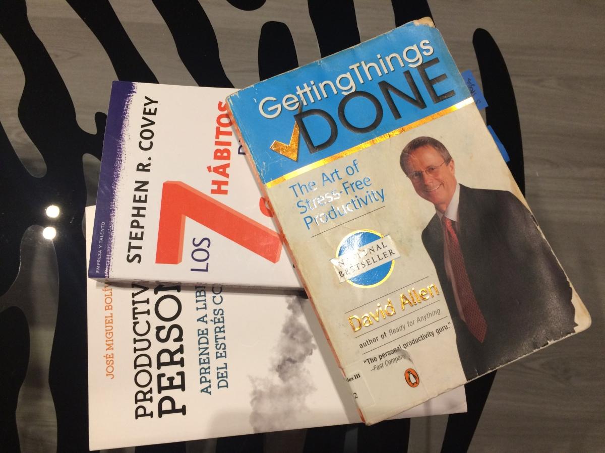 3 libros de referencia sobre Productividad Personal